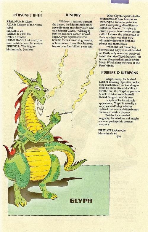 Dragon Mimicry-Glyph-TMNT Mutant Universe Sourcebook #1