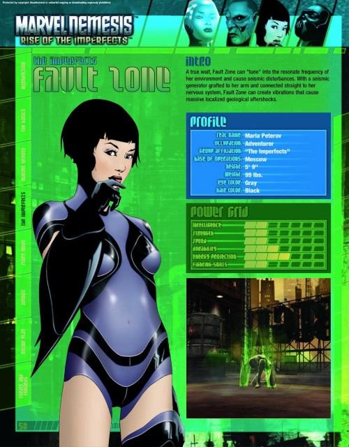 Earth Quake Generation-Fault Zone-Marvel Nemesis - Rise of The Imperfects Official Game Guide