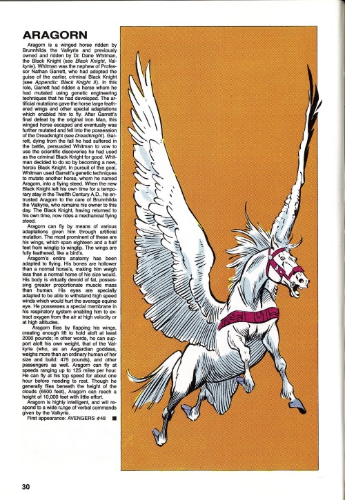 Equus Mimicry-Aragon-Official Handbook of the Marvel Universe V2 #1