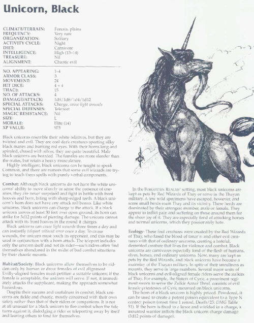 equus-mimicry-black-unicorn-tsr-2166-monstrous-compendium-annual-volume-3