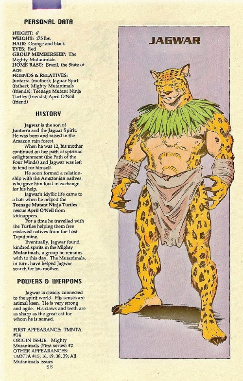 Felidae Mimicry-Jagwar-TMNT Mutant Universe Sourcebook #1