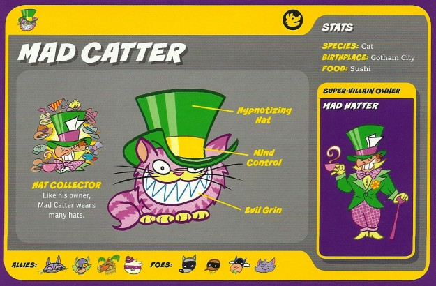 Felidae Mimicry-Mad Catter-Mad Hatter-Capstone's DC Super-Pets Character Encyclopedia