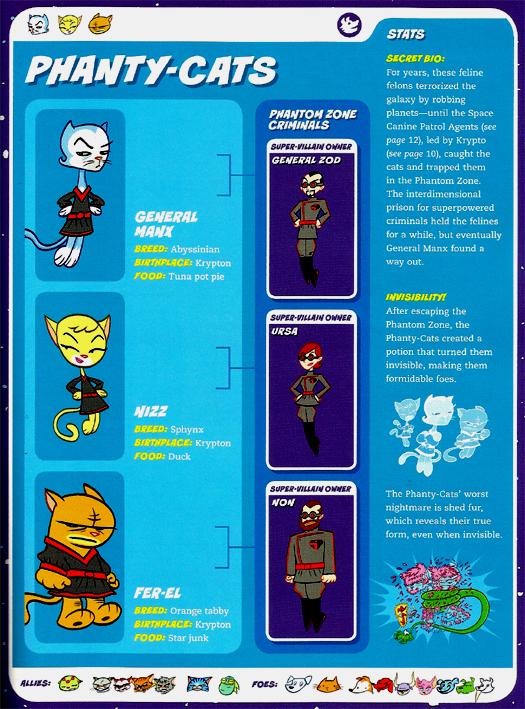 Felidae Mimicry-Phanty-Cats-Capstone's DC Super-Pets Character Encyclopedia