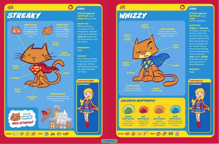 Felidae Mimicry-Streaky & Whizzy-Capstone's DC Super-Pets Character Encyclopedia