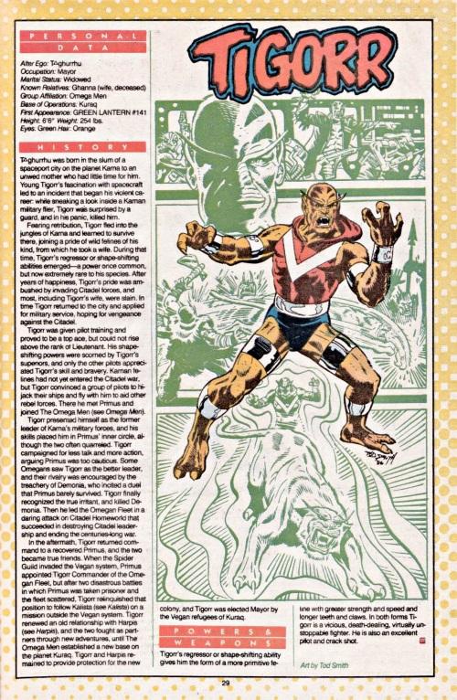 Felidae Mimicry-Tigorr-DC Who's Who #23 (1987)