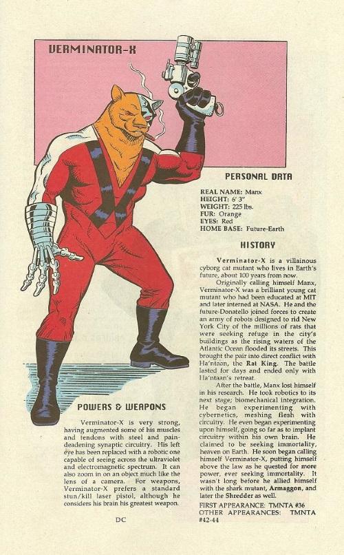 Felidae Mimicry-Verminator X-TMNT Mutant Universe Sourcebook #2