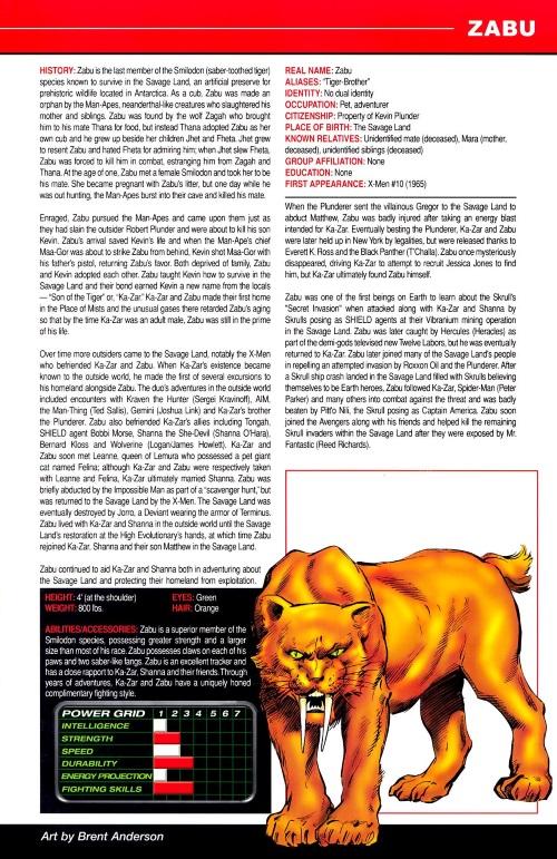 Felidae Mimicry-Zabu-Marvel Pets Handbook #01