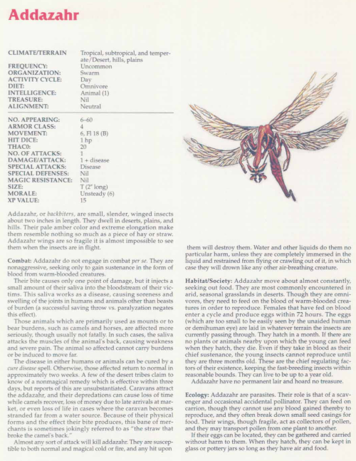 insect-mimicry-addazahr-tsr-2158-monstrous-compendium-annual-volume-2