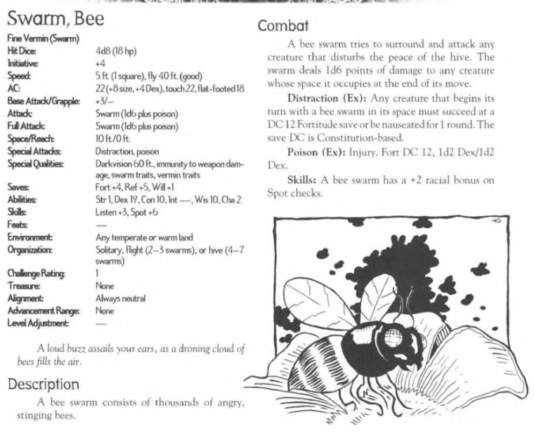 insect-mimicry-bee-swarm-creature-collection-iii-savage-bestiary