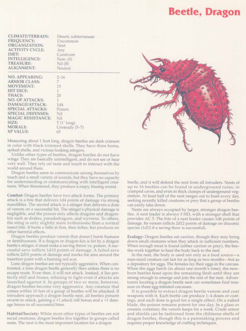 insect-mimicry-dragon-beetle-tsr-2158-monstrous-compendium-annual-volume-2