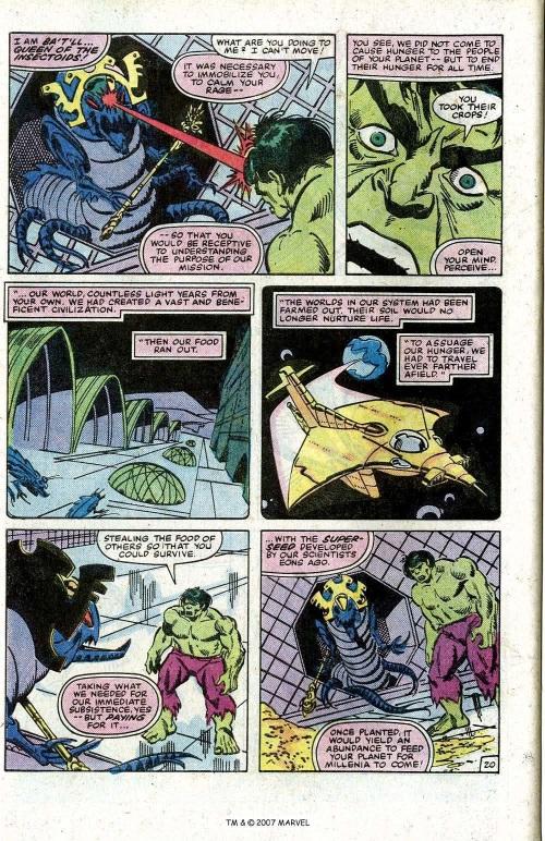 Insect Mimicry–Ba't'll-Incredible Hulk V1 #273-1