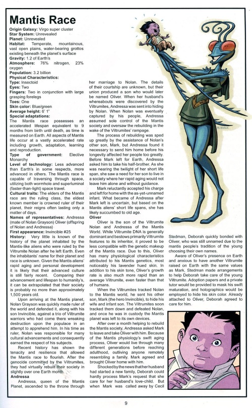 Insect Mimicry–Thraxans-Official Handbook of the Invincible Universe #2 (Image)