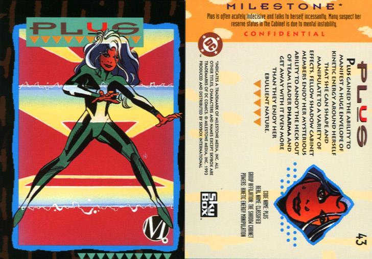 Kinetic Manipulation-Plus-Milestone Media Universe Card Set