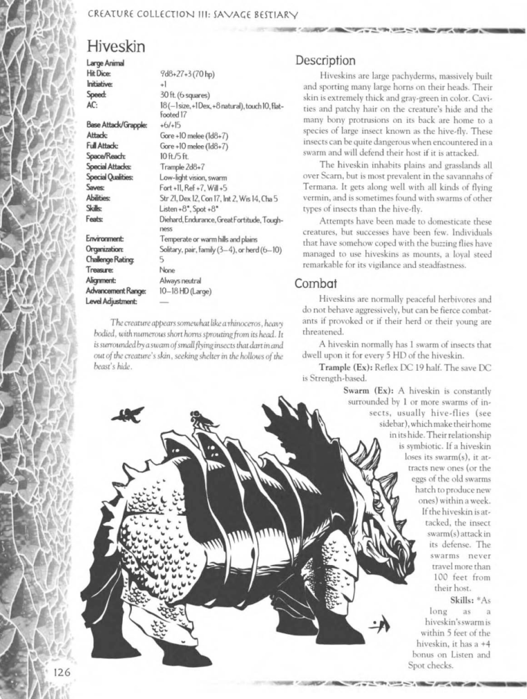 Rhino Mimicry-D&D-Hiveskin-Creature Collection III. Savage Bestiary