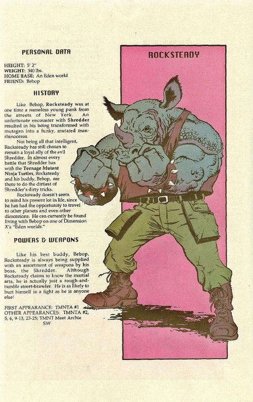 Rhino Mimicry-Rocksteady-TMNT Mutant Universe Sourcebook #2