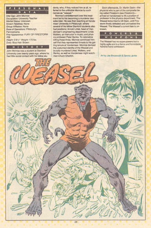 Rodent Mimicry-DC-The Weasel-DC Who's Who #25 (1987)