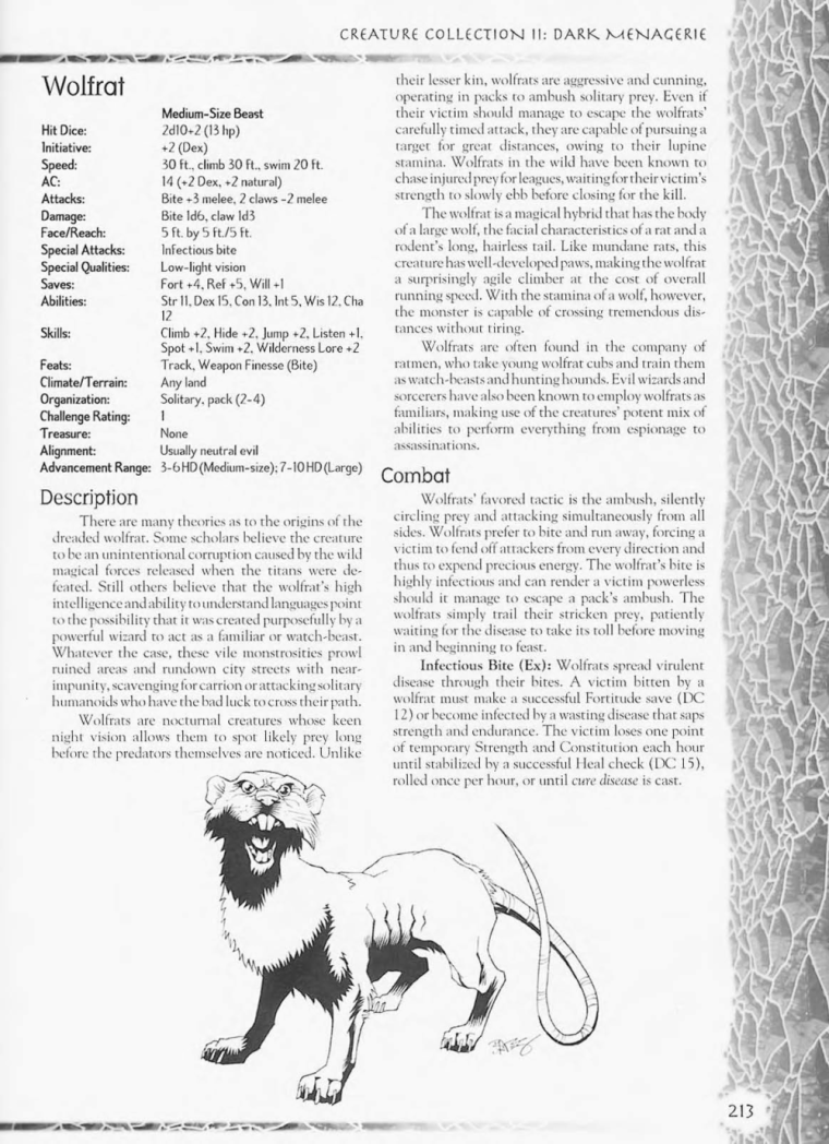 Rodent Mimicry-D&D-AN-Wolfrat-Creature Collection II. Dark Menagerie