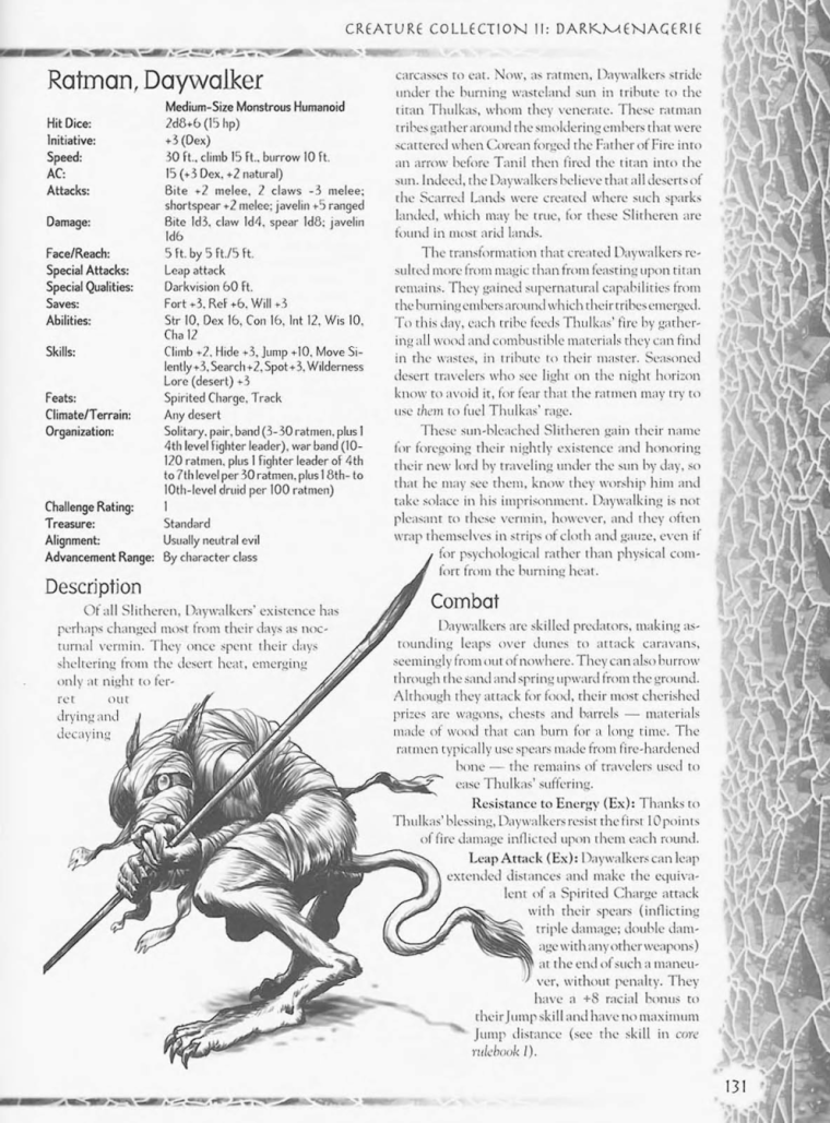 Rodent Mimicry-D&D-RM-Daywalker Ratman-Creature Collection II. Dark Menagerie