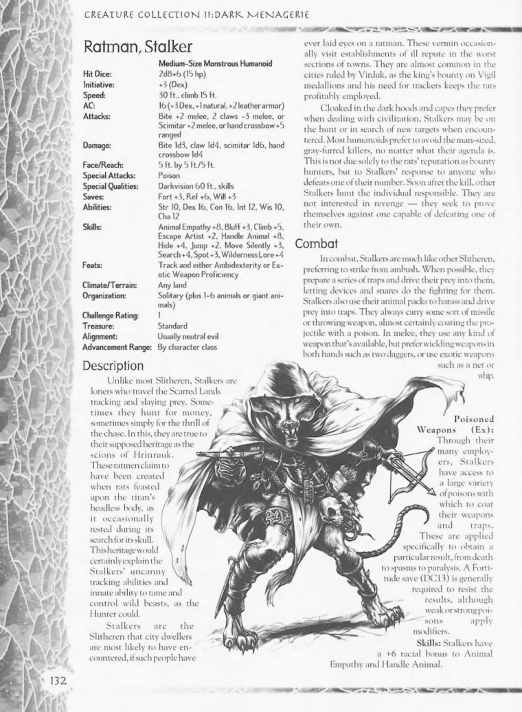 Rodent Mimicry-D&D-RM-Stalker Ratman-Creature Collection II. Dark Menagerie