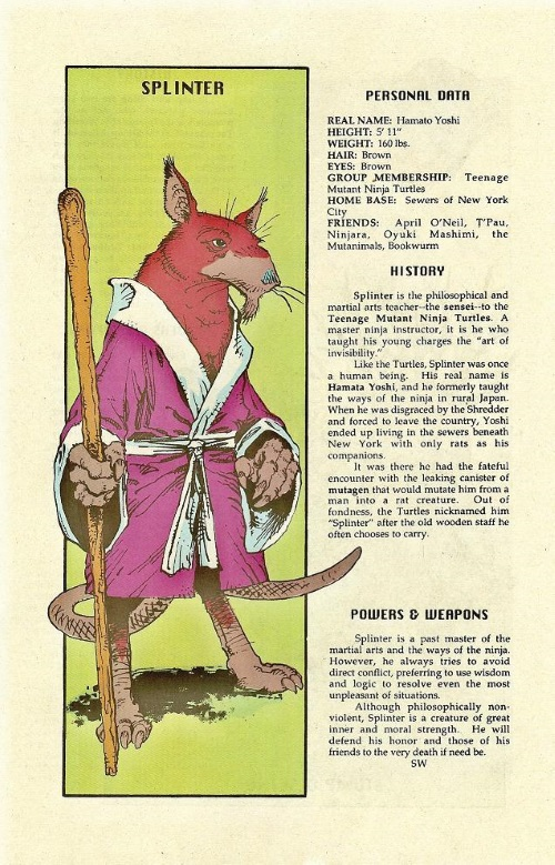 Rodent Mimicry-Splinter-TMNT Mutant Universe Sourcebook #2