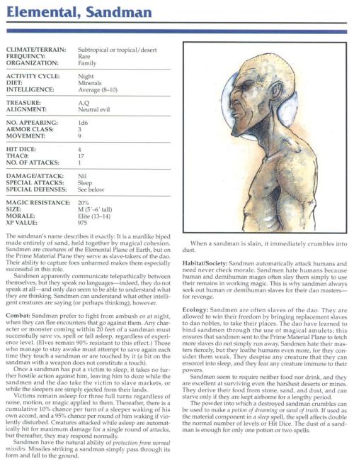 sand-mimicry-elemental-sandman-tsr-2145-monstrous-compendium-annual-volume-1