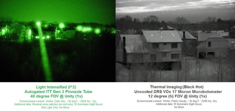 Vision (infrared)–Light Intensified vs Thermal Imaging
