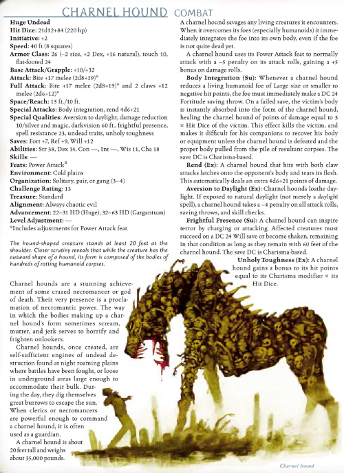 zombie-mimicry-charnel-hound-dd-3-5-monster-manual-iii