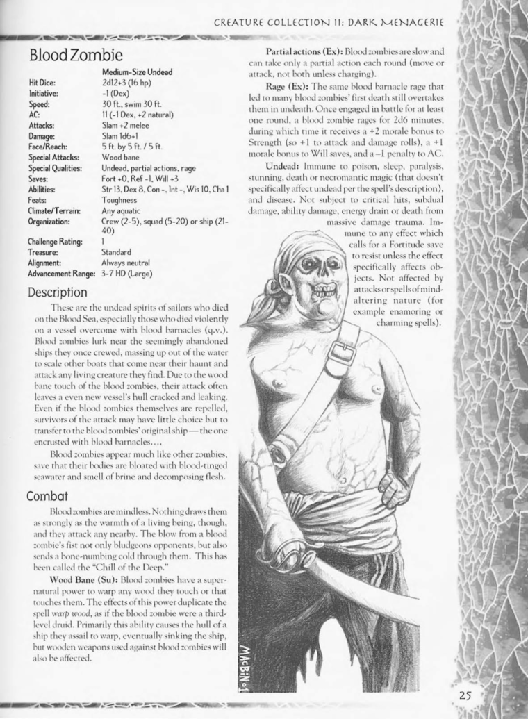Zombie Mimicry-D&D-Blood Zombie-Creature Collection II. Dark Menagerie