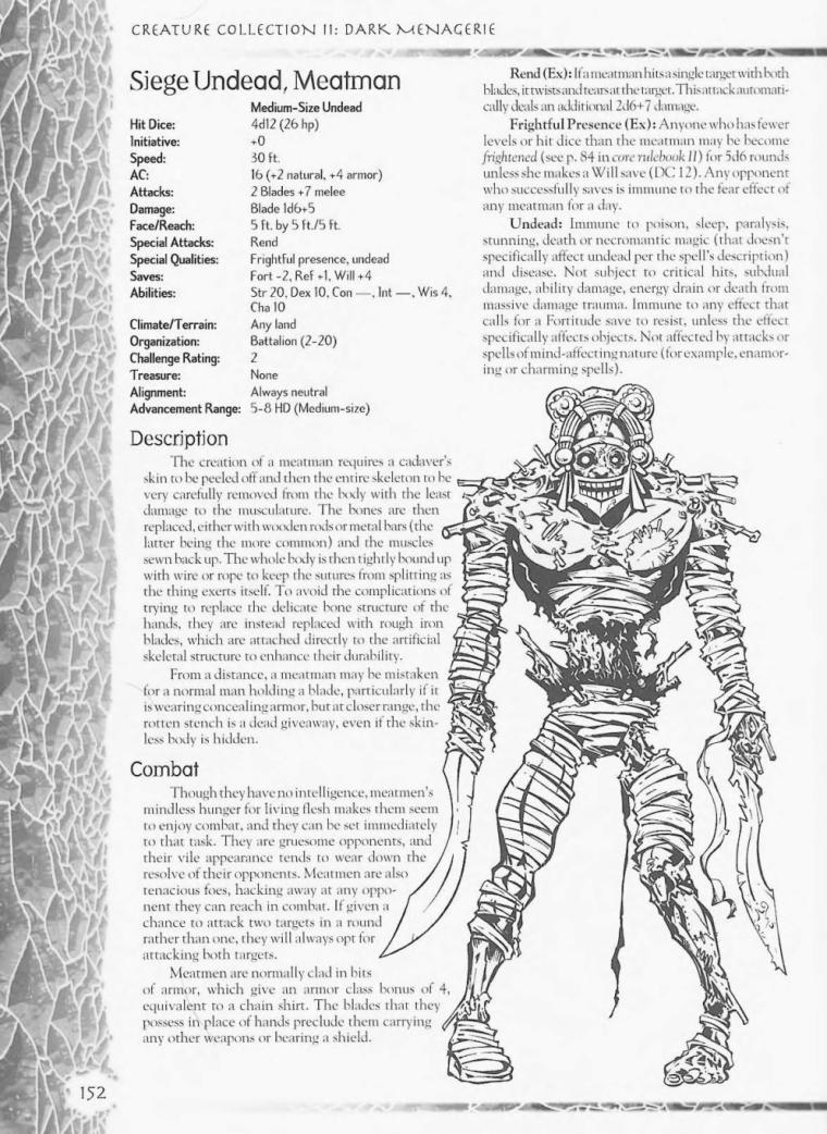 Zombie Mimicry-D&D-Meatman-Creature Collection II. Dark Menagerie