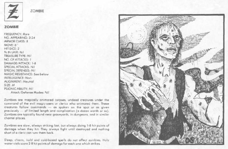 Zombie Mimicry-D&D-Zombie-AD&D 1st-Monster Manual