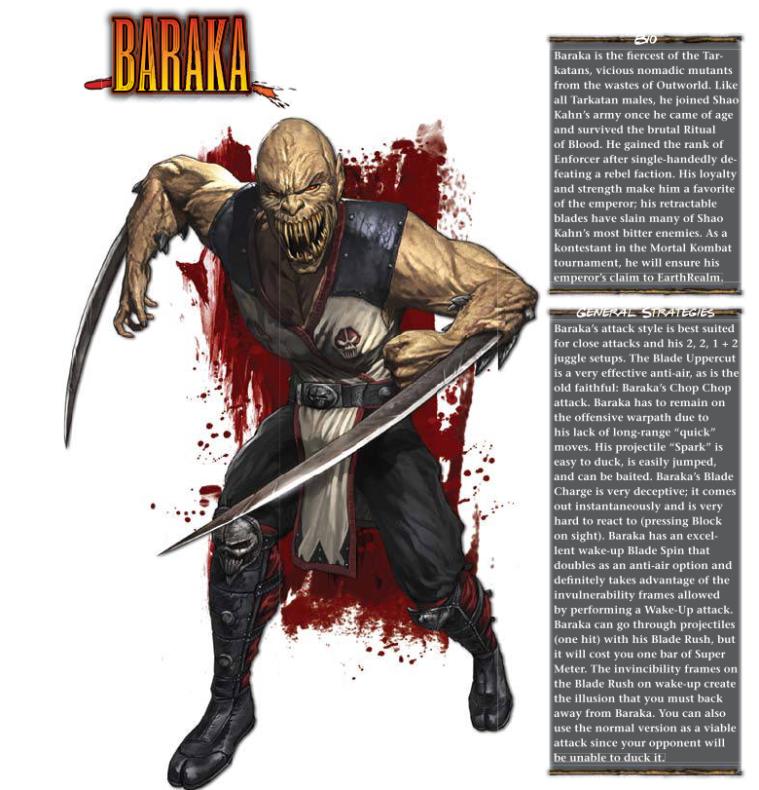 Appendages (blades)-Baraka-Mortal Kombat 9 (2011) Prima Guide