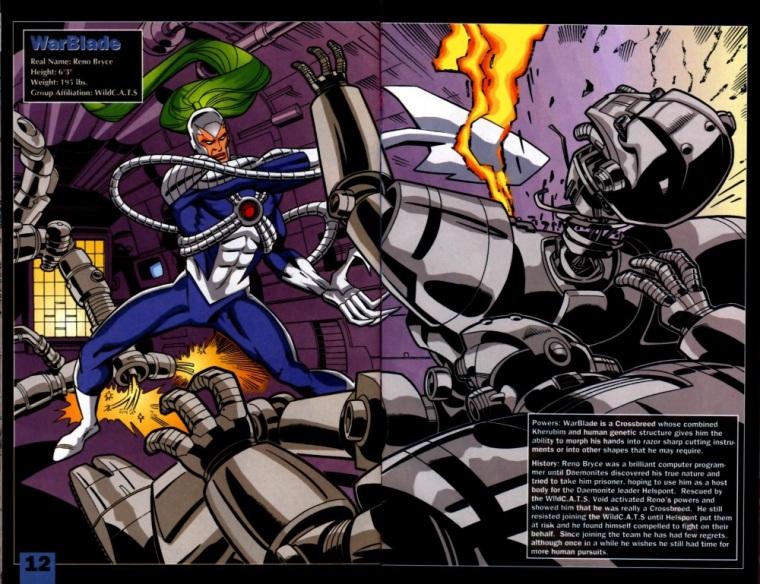 Appendages (blades)-Warblade-WildCATs Adventures Sourcebook