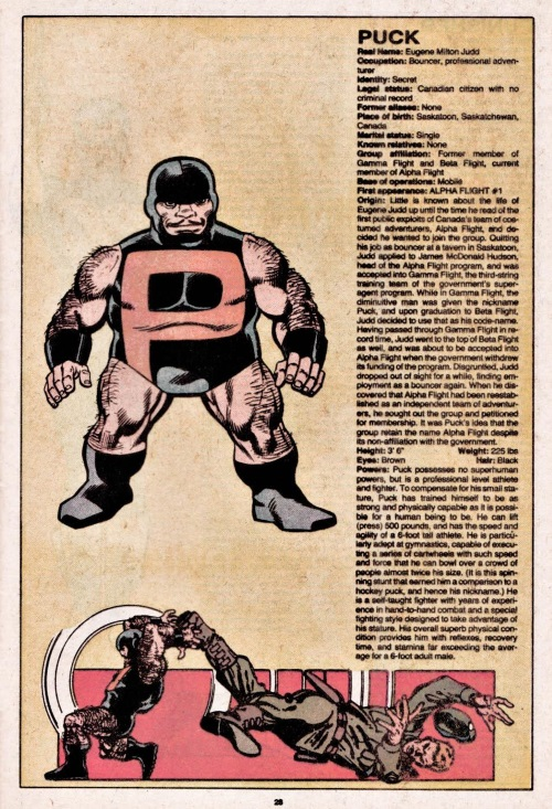 Biological Manipulation (height)-Dwarf-Puck-Official Handbook of the Marvel Universe V1 #8