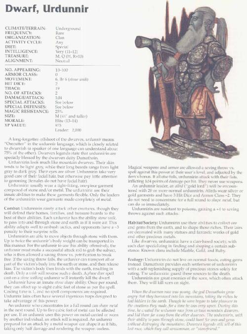 dwarf-mimicry-urdunnir-dwarf-tsr-2166-monstrous-compendium-annual-volume-3