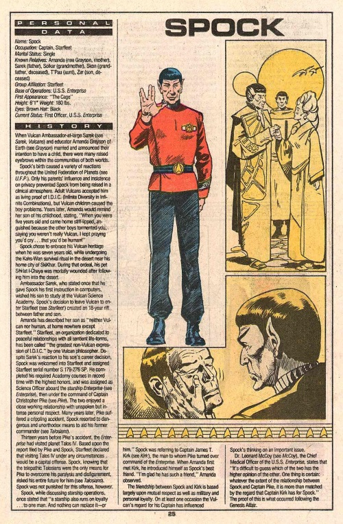 Hybrid Mimicry-2-Spock-Who's Who in Star Trek #2 (1987)
