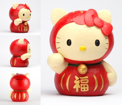 Merging (universes)-Hello Kitty-Daruma Doll