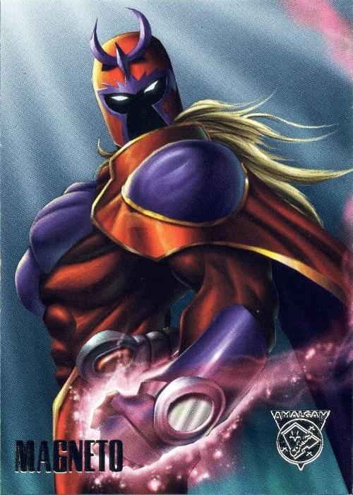 Merging (universes)-Magneto-Amalgam trading cards