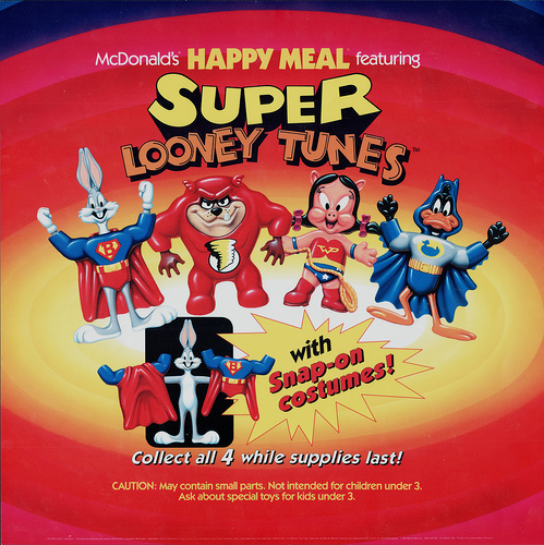 Merging (universes)-McDonalds Happy Meal-Super Looney Tunes
