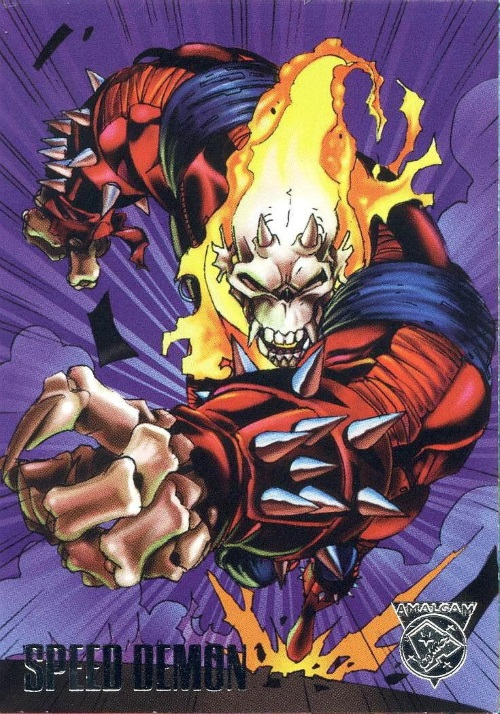 Merging (universes)-Speed Demon-Amalgam trading cards