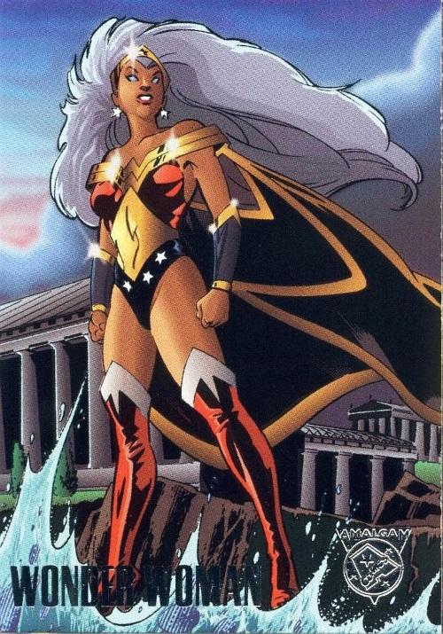 Merging (universes)-Wonder Woman-Amalgam trading cards