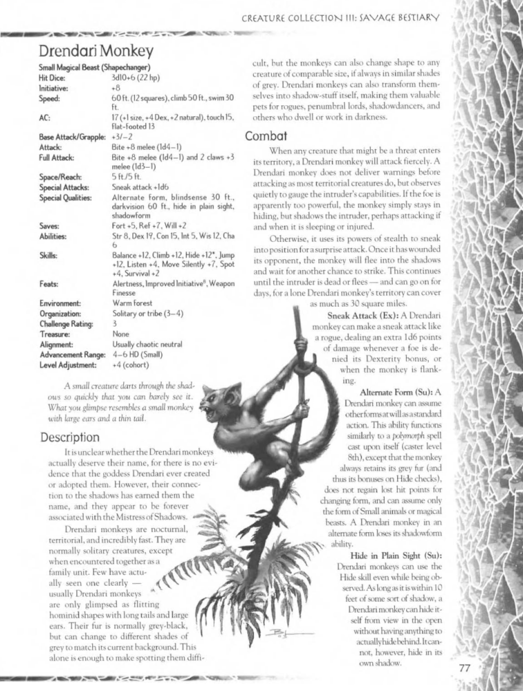 primate-mimicry-dd-drendari-monkey-creature-collection-iii-savage-bestiary