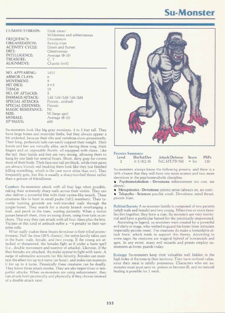 primate-mimicry-dd-su-monster-tsr-2140a-monstrous-manual