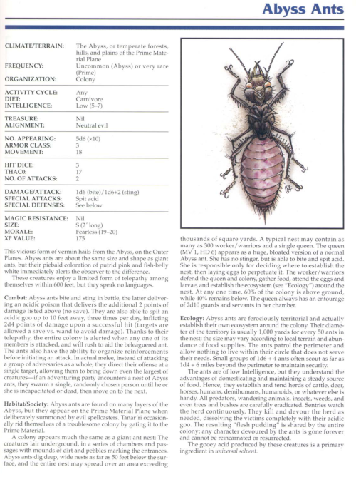 ant-mimicry-abyss-ants-tsr-2145-monstrous-compendium-annual-volume-1