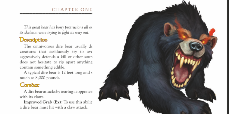 Bear Mimicry-Dire Bear-World of Warcraft Monster Guide