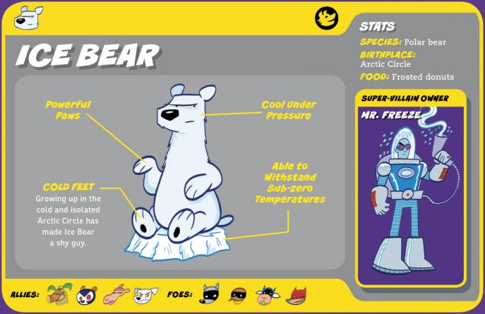 Bear Mimicry-Ice Bear-Mr. Freeze-Capstone's DC Super-Pets Character Encyclopedia