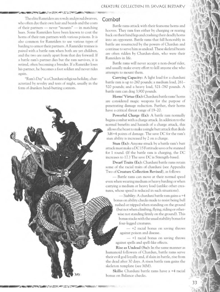Caprinae Mimicry-Battle Rams-Creature Collection III. Savage Bestiary