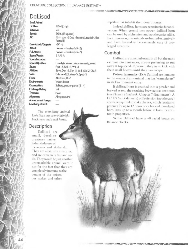 Caprinae Mimicry-Dallisad-Creature Collection III. Savage Bestiary