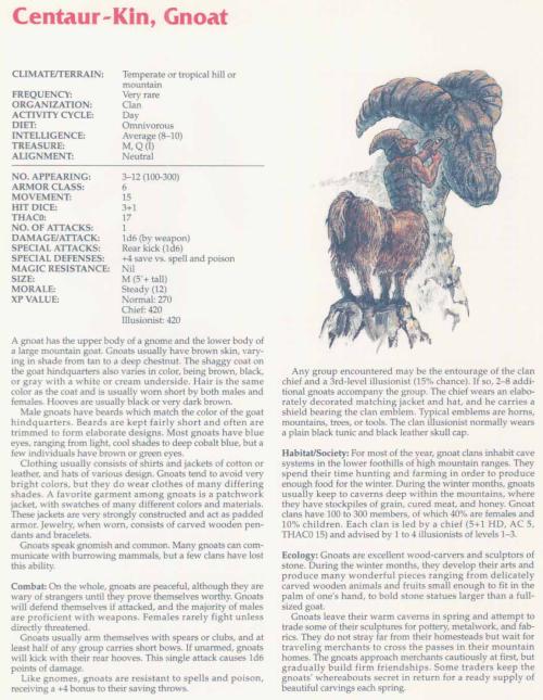 caprinae-mimicry-gnoat-tsr-2158-monstrous-compendium-annual-volume-2