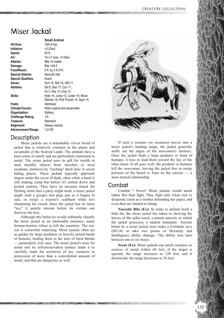 Caprinae Mimicry-Miser Jackal-Creature Collection I