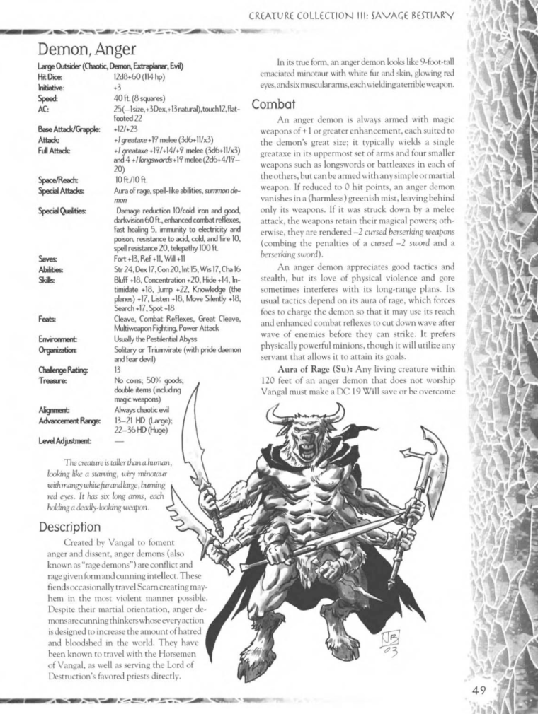 Demon Mimicry-Anger Demon-Creature Collection III. Savage Bestiary